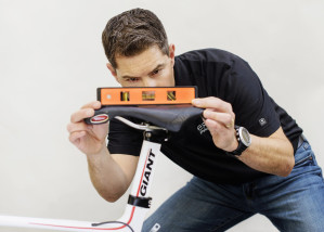 David Coletta performing a bike fitting