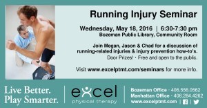 running injury seminar info