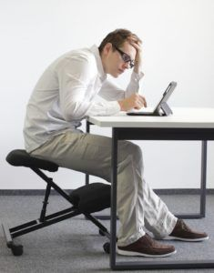 poor posture at work